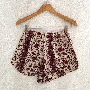 Brandy Melville red floral rose Remi shorts